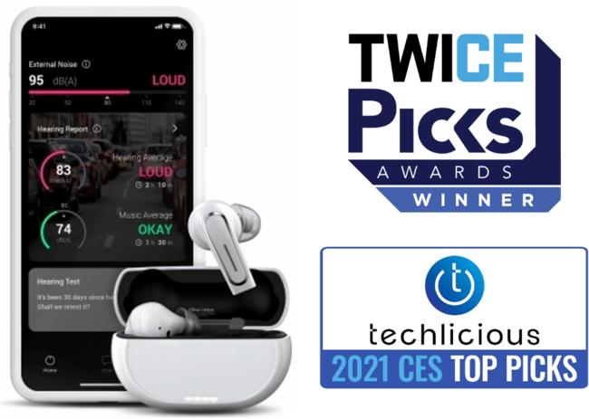 CES2021で「TWICE Picks Awards」などダブル受賞しました!2021年春発売予定の聴覚サポートイヤホン「Olive Pro(オリーブプロ)」