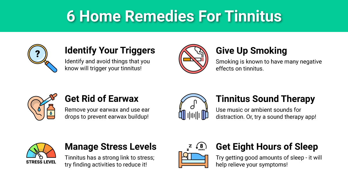 Olive Union Tinnitus Home Remedies Inforgraph