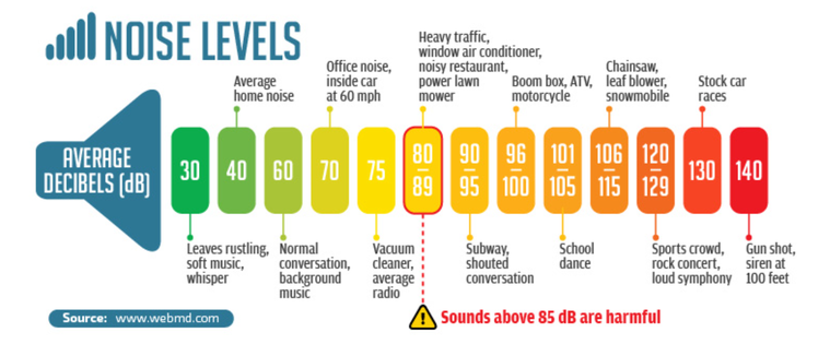 Decibel Noise Level Chart Shooting Hearing Loss best earplugs for shooting